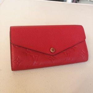 Louis Vuitton Cherry Empreinte Sarah Wallet